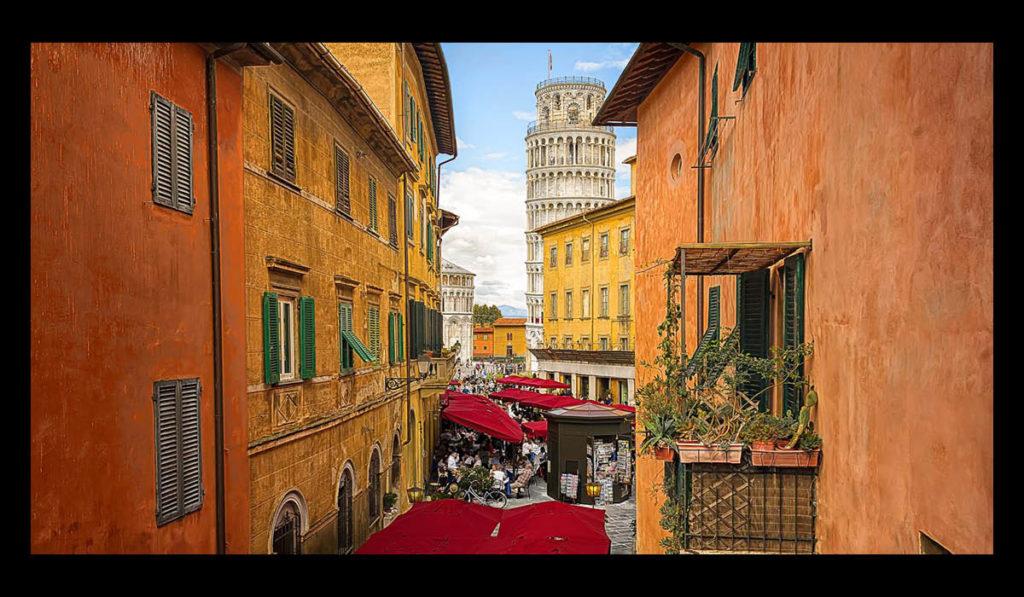 Valeriano Grossi Grafico - Ombrelloni rossi Poggesi a Pisa